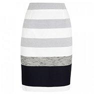MAXMARA - Textured striped cotton blend pencil skirt