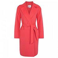 MAXMARA - Wool and angora blend belted coat