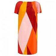 MAXMARA - Colour block brushed silk dress