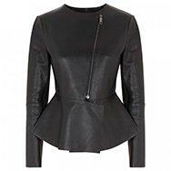 SPORTMAX - Sulmona peplum leather jacket
