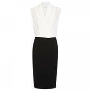 MAXMARA - Draped monochrome stretch crepe dress