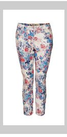 MOTO Flock Floral Leigh Jeans