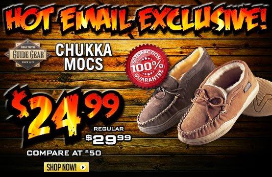 Men's Guide Gear® Chukka Mocs