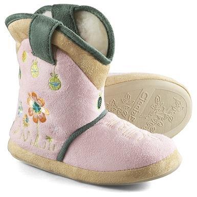 Girls' Cicciabella® Sweet Petal Boot Slippers