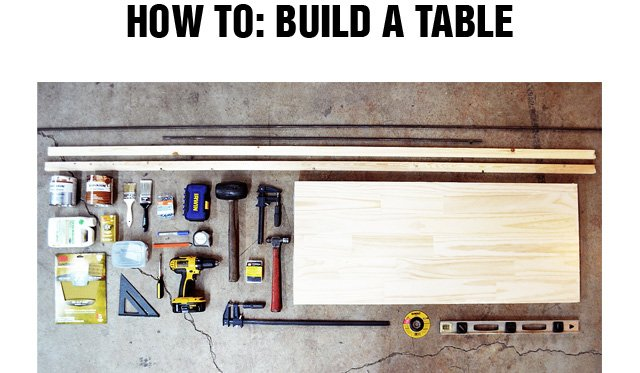 How To: Build A Table