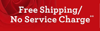 Free Shipping/No Service Charge** on Early Valentine's Delivery