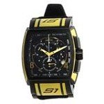 Invicta 12786 Men's S1 Rally Black Dial Black Strap Chronograph Yellow Accent Watch