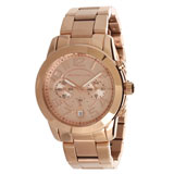Michael Kors MK5727 Women's Mercer Chronograph Mid-Size Rose Gold Steel Watch