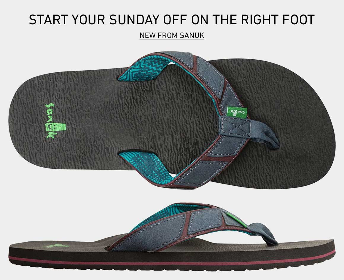 Start Your Sunday Off On The Right Foot: New Sanuk