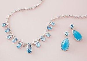 Sapphire and Aquamarine Jewelry
