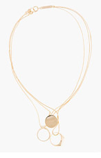 MAISON MARTIN MARGIELA Gold Tiered Ring Set Necklace for women