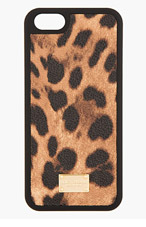 DOLCE & GABBANA Brown Leopard Print iPhone 5 Case for women