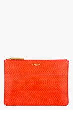 LANVIN Red Snakeskin Paneled Pouch for women