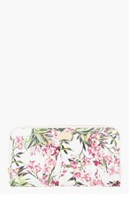 DOLCE & GABBANA White Patent Leather Floral Continental Wallet for women
