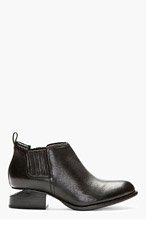 ALEXANDER WANG Black Leather Cut-Out Heel Kori Ankle Boots for women