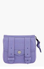 PROENZA SCHOULER Berry Purple Leather Lux PS1 Small wallet for women