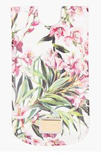 DOLCE & GABBANA White Patent Leather Floral iPhone 5 Case for women