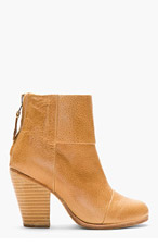 RAG & BONE Camel Leather Classic Newbury Ankle Boots for women