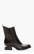 ALEXANDER WANG Black Leather Silver-Heeled Anouck Chelsea Boots for women