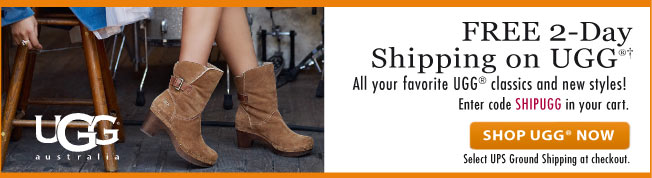 Free Two Day Shipping on UGG!