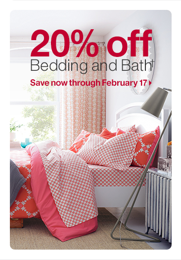 20% off Bedding and Bath