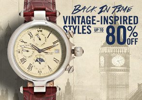 Shop Vintage-Style Watches: Up to 80% Off