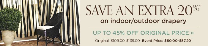 Save on drapery. Up to 45% off