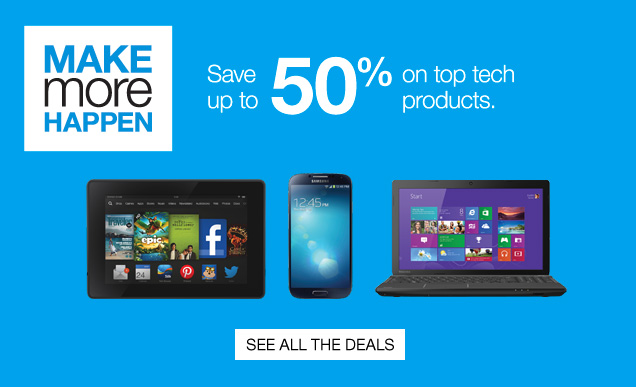 Make  more happen. Save up to 50% on top tech products. See all the deals.