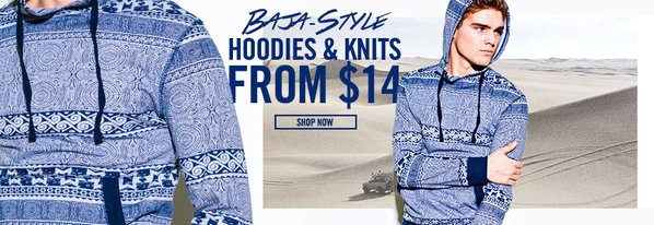 Shop Baja-Style Hoodies & Knits from $14