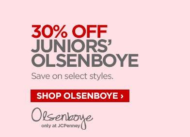 30% OFF JUNIORS' OLSENBOYE Save on select styles. SHOP OLSENBOYE ›  OLSENBOYE only at JCPenney