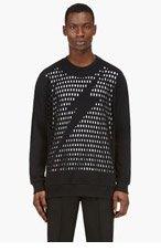 3.1 PHILLIP LIM Black Mesh Lightning Bolt Sweatshirt for men