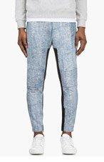 3.1 PHILLIP LIM Black Cracked Paint Lambskin Trousers for men
