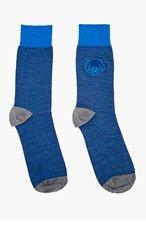 KENZO Blue embroidered TIGER SOCKS for men