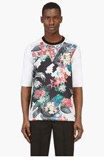 3.1 PHILLIP LIM Black Tropical Print T-Shirt for men