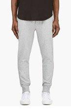 3.1 PHILLIP LIM Heather GREY Minimalist Lounge PANTS for men