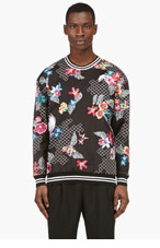 3.1 PHILLIP LIM Black Embroidered Crewneck Top for men