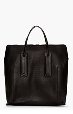 RICK OWENS Black Oversize Leather Tote for men