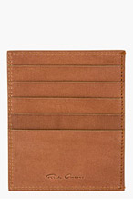 RICK OWENS Brown Leather Card Holder for men