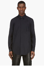 3.1 PHILLIP LIM Navy Lightning Bolt Patch Shirt for men