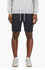 3.1 PHILLIP LIM Navy Tailored Pleated Shorts for men