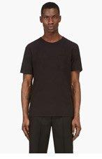 T BY ALEXANDER WANG Black Classic Pocket t-shirt for men