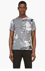 RAG & BONE Grey PRINTED LEO t-shirt for men
