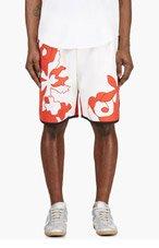 3.1 PHILLIP LIM Red Seamed Floral Appliqué Shorts for men