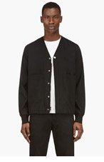 3.1 PHILLIP LIM Black Wool Drawstring Hem Jacket for men