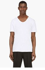 T BY ALEXANDER WANG White CLASSIC Scoopneck t-shirt for men