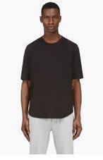 3.1 PHILLIP LIM BLACK Shirttail T-shirt for men