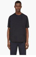 3.1 PHILLIP LIM Navy Poplin T-Shirt for men