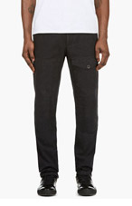 RAG & BONE Black Denim STATTEL CARGO PANTS for men