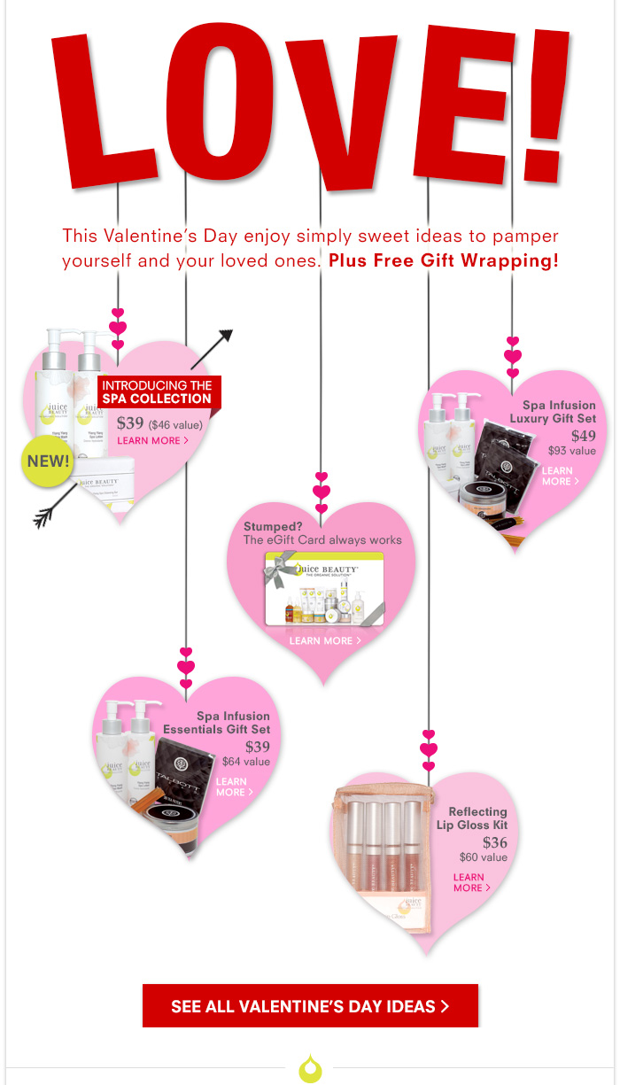 This Valentine's Day enjoy simply sweet ideas to pamper yourself and your loved ones. Plus Free Gift Wrapping!