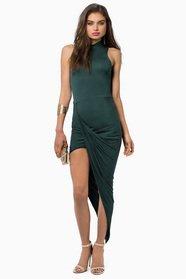 Turtleneck Drape Midi Dress 35